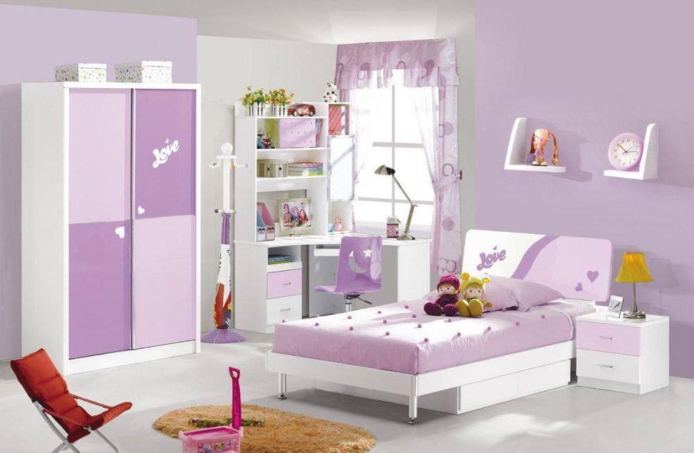 Light Purple Bedroom Furniture Sets for Kids with Minialist Furniture Design