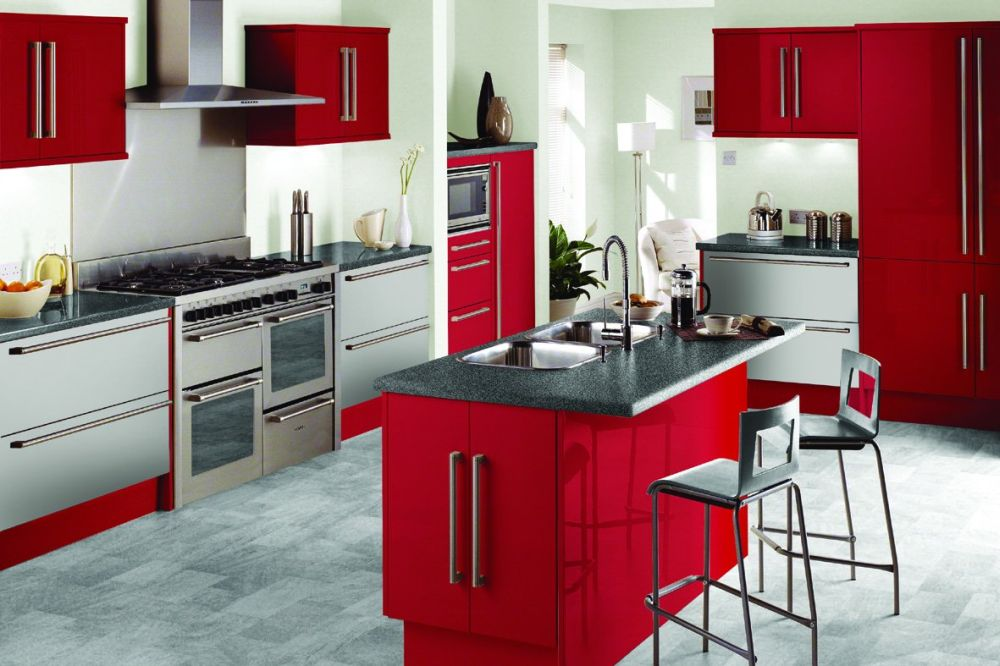 red kitchen design themes with island as the bar table various themes for kitchen that will open your eyes widely