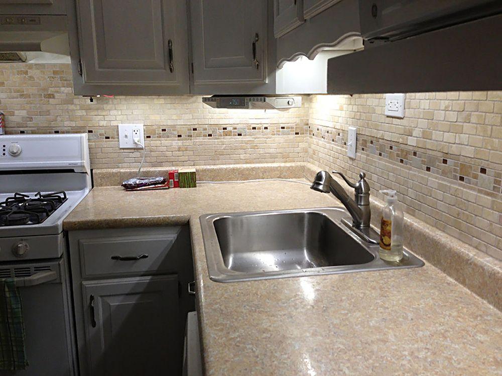 Kitchen Counter Installed Before Backsplash