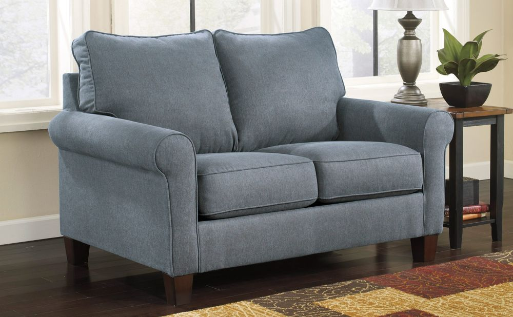 trendy grey loveseat for living room on the dark brown laminate floor owning small living room décor with versatile sense from the appealing twin sleeper sofa chair