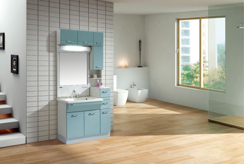 unique vanity design with rectangular mirror and some mounted storage in a spacious bathroom unique bathroom mirrors to enhance the design