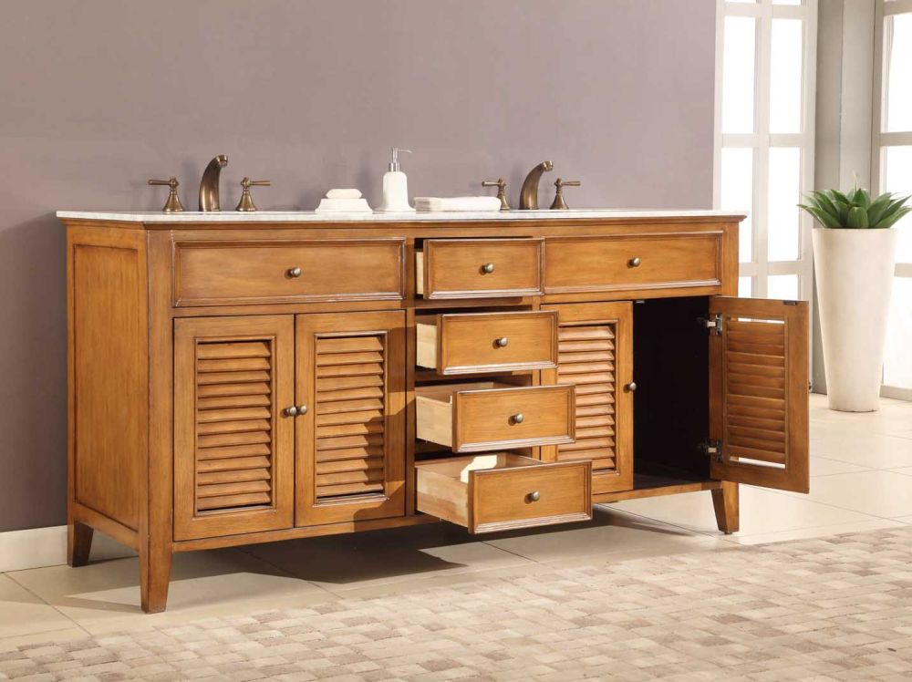 wooden used vanity with simple design and ornamentation plus white marble countertop outstanding used vanity for bathroom design