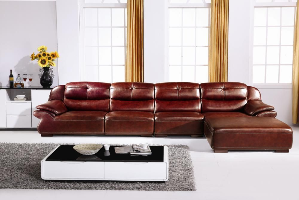 caramel tone leather sofa design with low back style brings the joy of modernity low back sofa design – new style for good interior design