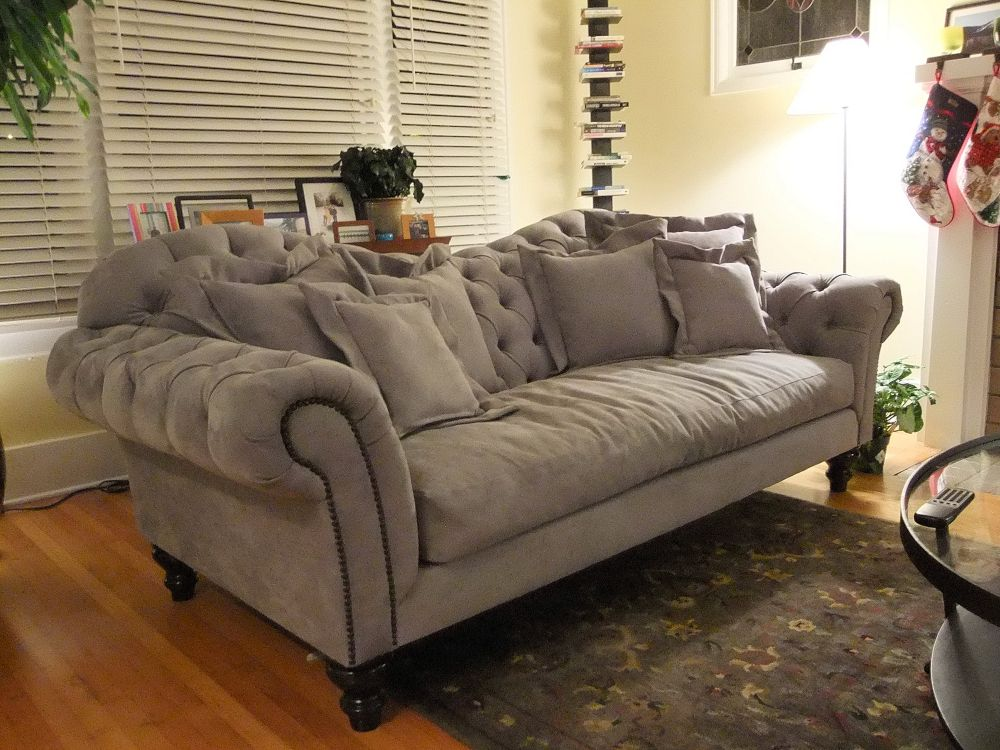 Changing The Sense Of The Living Room With Camel Back Sofa