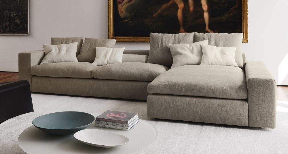 gray sofa design with low back and white small cushions that suits your urban style and taste low back sofa design – new style for good interior design