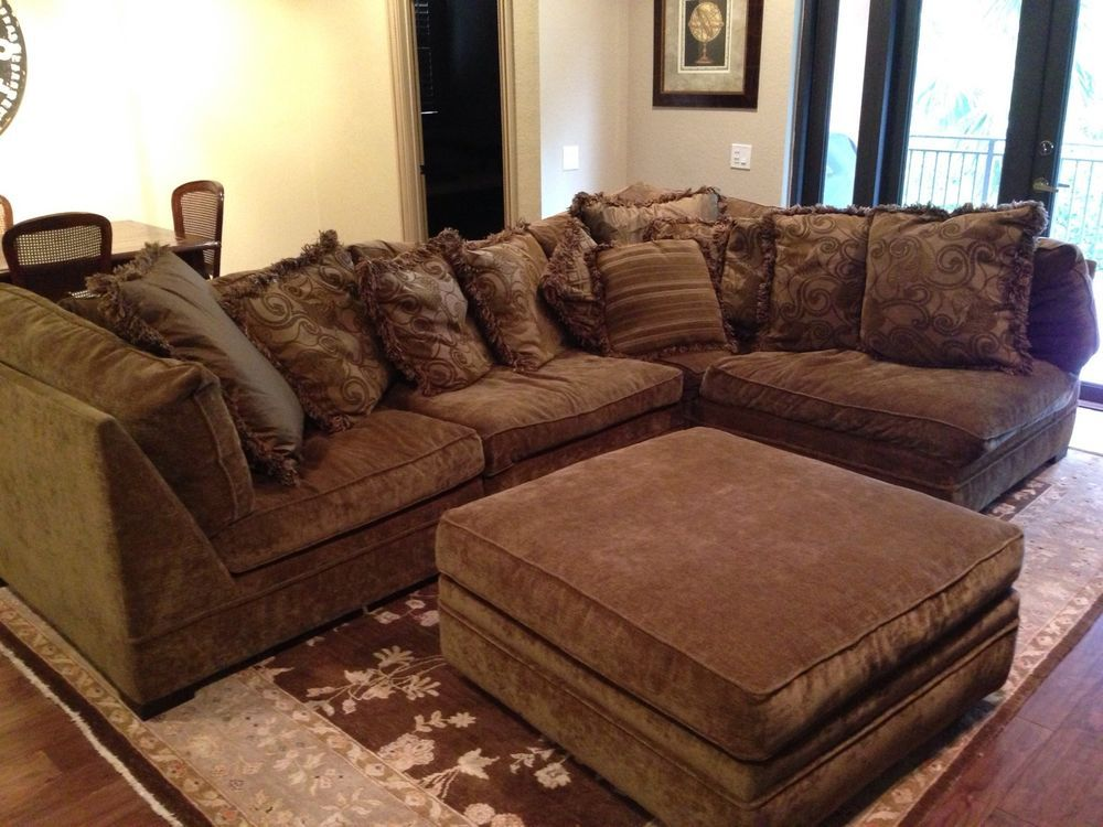 Montgomery Down Filled Sofa In Brown Tone Homes