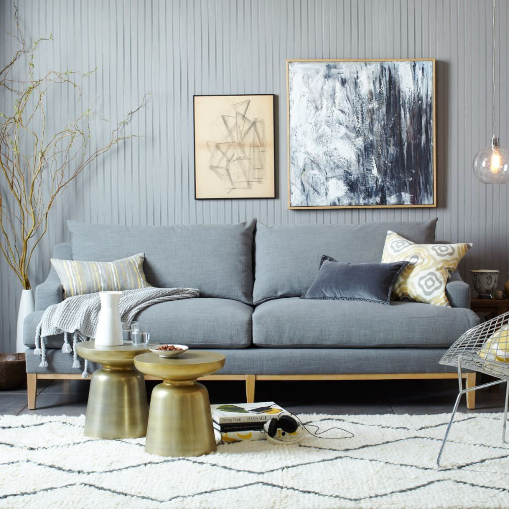 stylish gray sofa design with scandinavian nuance how to play fashionably with down filled sofa design living room