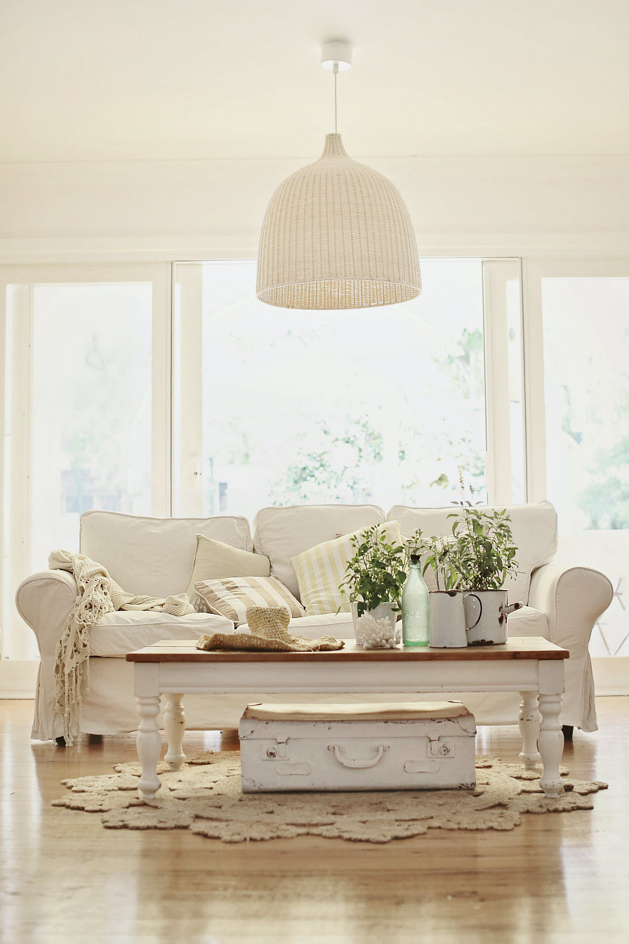 white scheme living room with white slipcovered sofa with wooden coffee table astounding white slipcovered sofa for various living room design