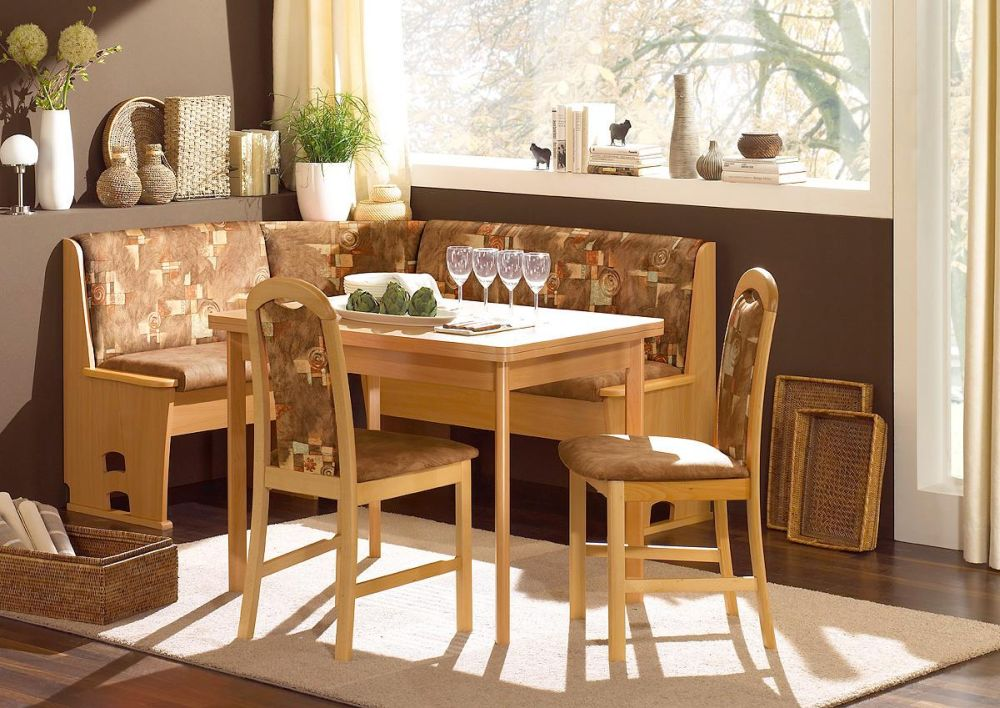 Breakfast Nook Furniture for Small Spaces with Wooden Frame Based and Storage