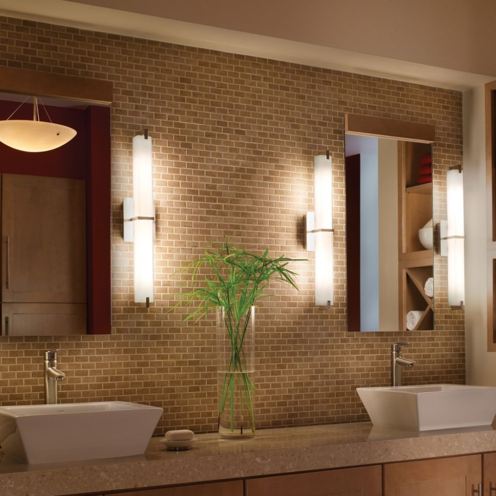 contemporary bathroom light bars in tube shape for modern bathroom the effect of luxury from bathroom light bars