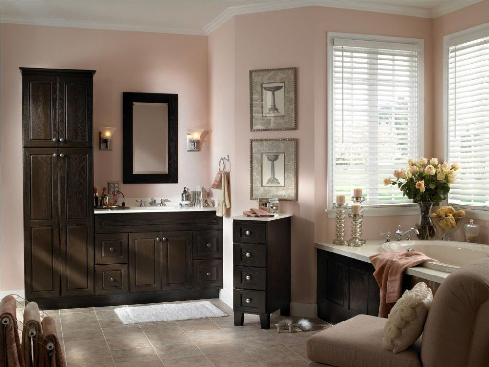 linen tower design stacked with the main bathroom vanity in neutral black tone bathroom linen tower – space saver storage idea