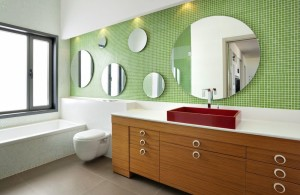 lot of frameless oval mirrors in the bathroom wall in various sizes oval bathroom mirrors opens fashion catwalk in the bathroom