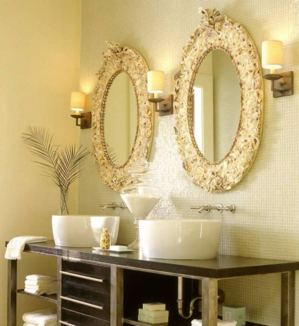 luxurious bathroom with golden tone plus lavish oval mirror design oval bathroom mirrors opens fashion catwalk in the bathroom
