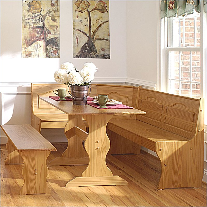 natural wooden breakfast nook idea with bench breakfast nook furniture with natural tone that you should know kitchen