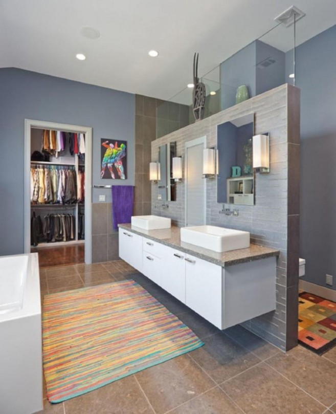 patterned bright plaid rug give warm stepping foot on the design adding large bathroom rugs for wide and posh interior look