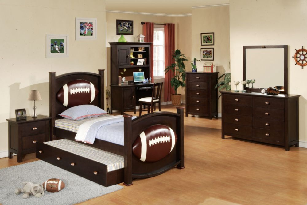 Sport Theme Boy Bedroom Set With Desk Homes Furniture Ideas