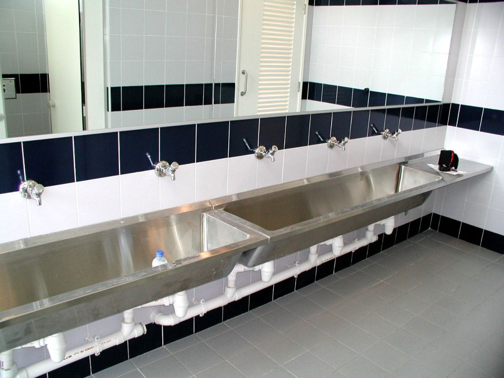 super long stainless steel sink design stainless steel bathroom sinks – stunning bathroom design