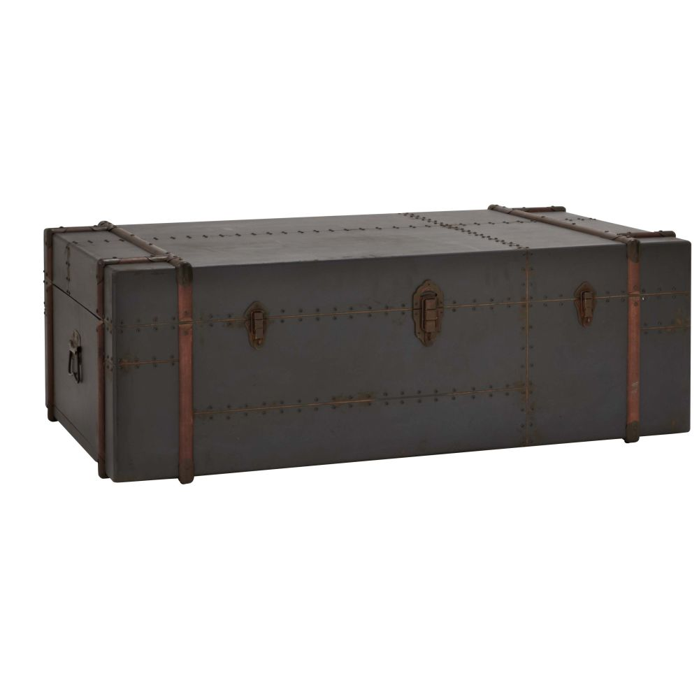 antique trunk coffee table with storage by woodland imports top products of steamer trunk coffee table