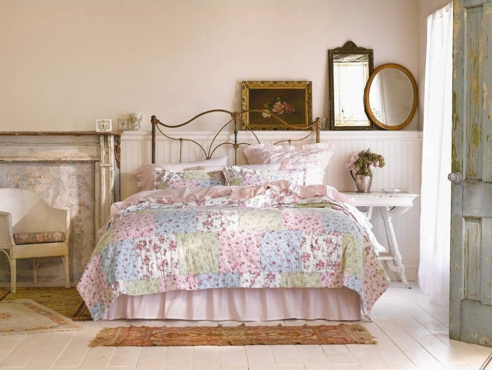 simply shabby chic ditsy patchwork quilt - multi target shabby chic furniture for your bedroom
