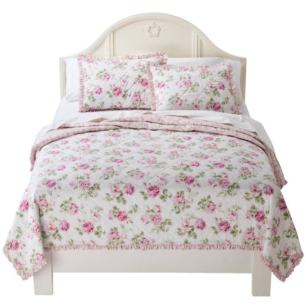 Simply Shabby Chic Garden Rose Quilt Homes Furniture Ideas