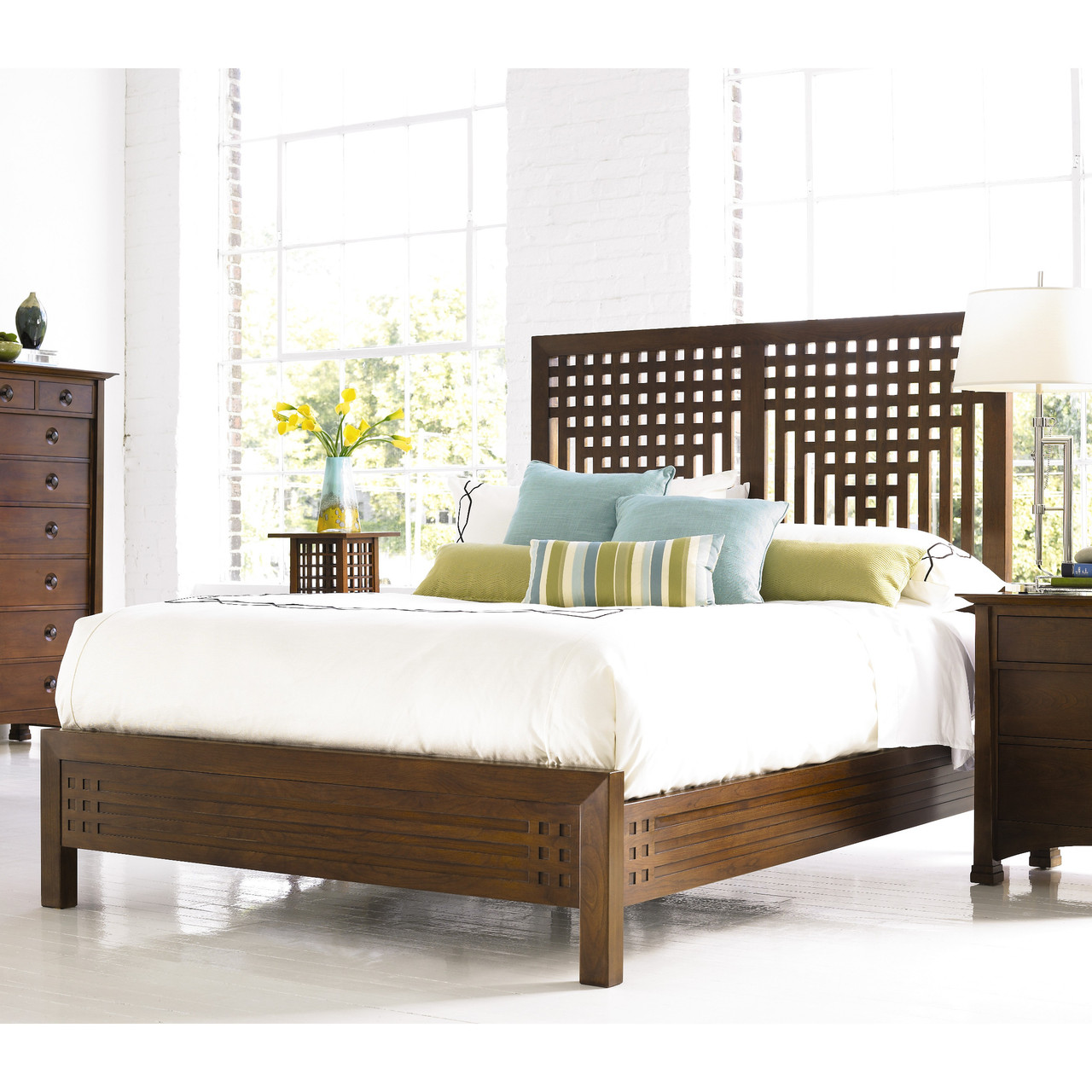 willow bed designed by stickley's edinburg collection with lattice-style headboard top 3 beds by virginia wayside furniture