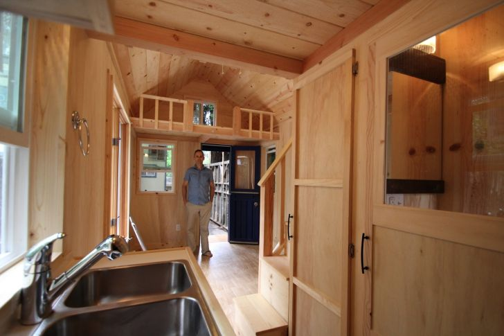 molecule tiny homes kitchen view living in small homes by molecule tiny homes