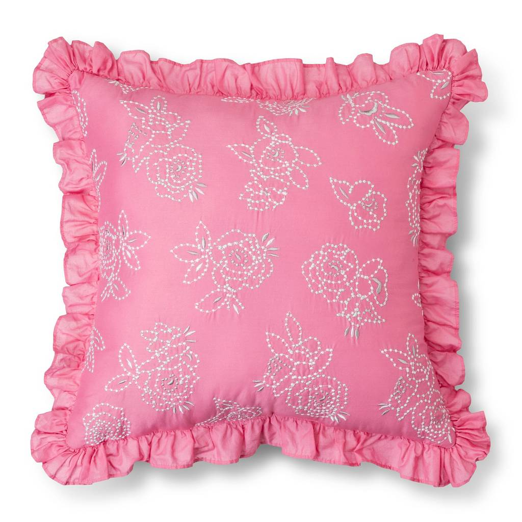 french knot rose pillow pink simply shabby chic shabby chic bedding target for beautiful bedding sets