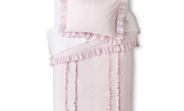 Ruffle Duvet Sham Set Pink Simply Shabby Chic