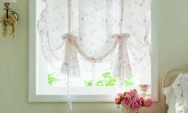 Simply Shabby Chic Ruffle Window Panel Rose Print