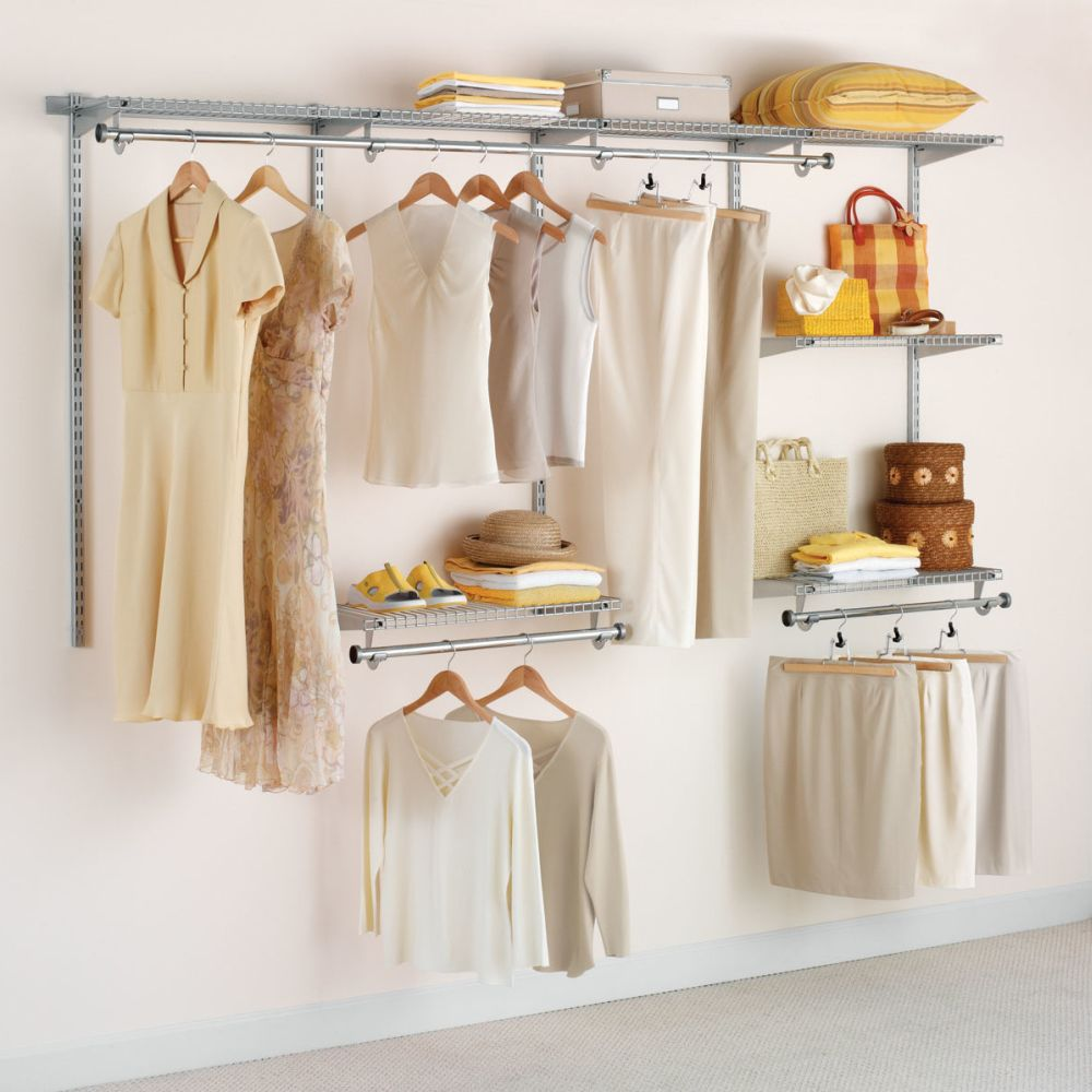 wallmount configurations deep closet set stand alone closet organizing tools and systems