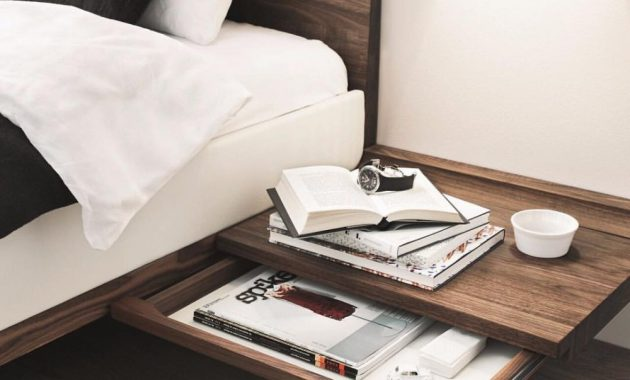 Wooden Wall Mount Bedside Table