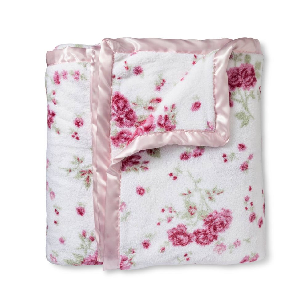 Floral Shabby Chic Blanket Super Soft and Plush Simply Shabby Chic Blanket