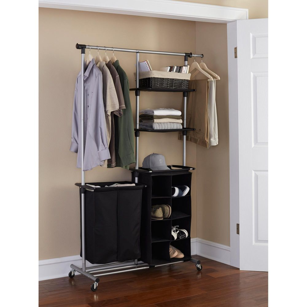 free standing clothes rack organizer on wheel benefits of freestanding closet system