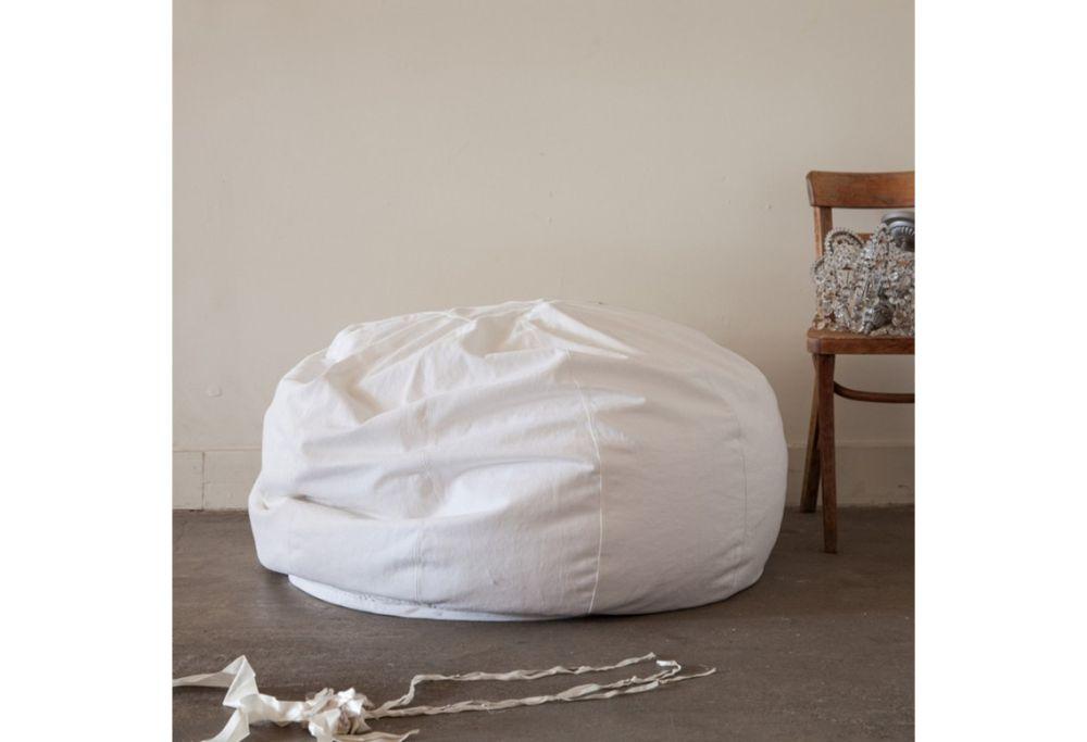 oversized white denim beanbag simply shabby chic furniture for your interior design