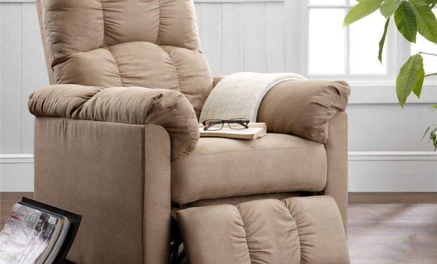 dorel-living-slim-microfiber-recliner-beige