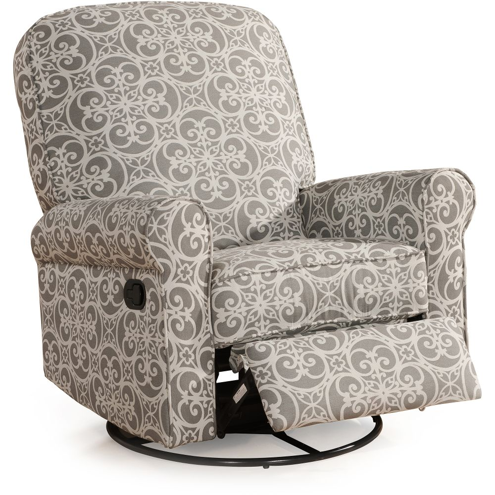 home-meridian-international-ashewick-swivel-glider-recliner-doodles-ash-gray-comfortable-walmart-recliner-chairs