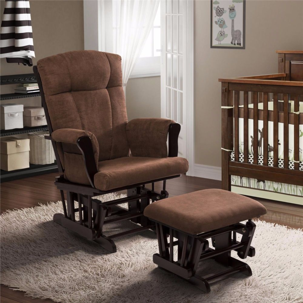 nursery-brown-microfiber-glider-rocking-chair-types-of-replacement-glider-cushions
