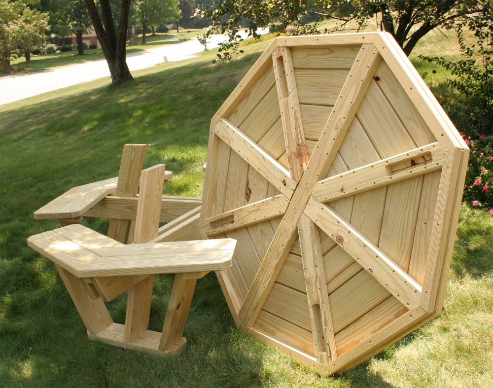 round-wooden-folding-picnic-table-folding-picnic-table-plans-for-best-outdoor-meals