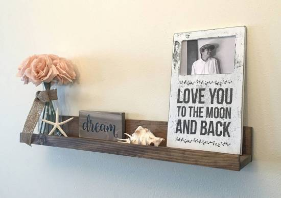 long floating wall shelves for rustic wooden touch 2017 trends: 11 fashionable wall floating shelves for your homes