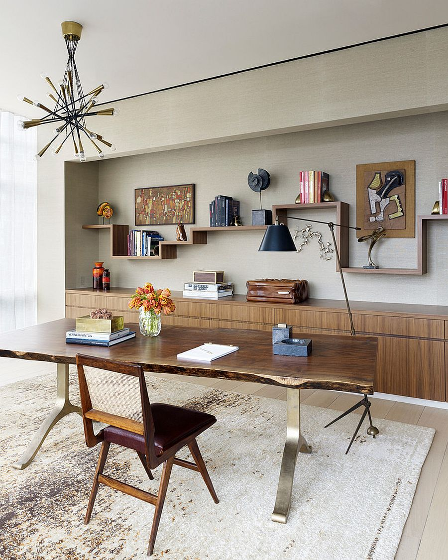 simple and clean NYC home office residence natural enchantment - celebrating the charm of live-edge decoration with 25 home offices