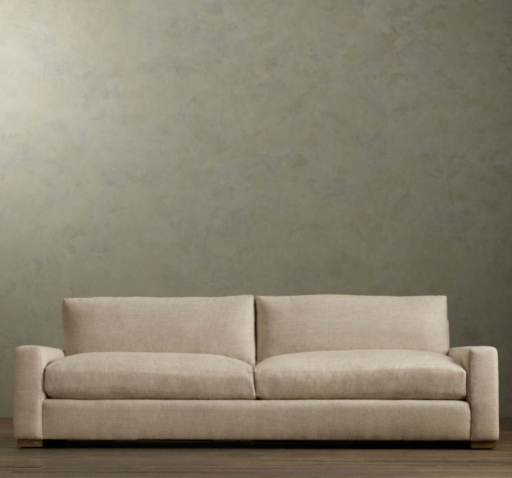 squared off cushions in neutral tone by Maxwell Upholstered sofa the great seating debate about sofa versus couch: which one is better