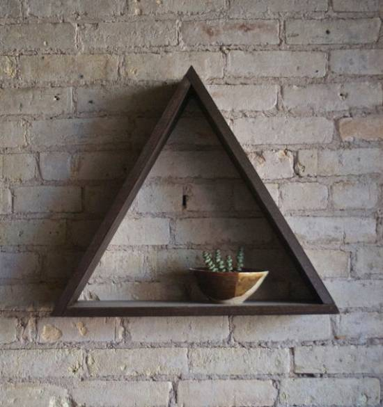 triangle floating shelves for unique room 2017 trends: 11 fashionable wall floating shelves for your homes