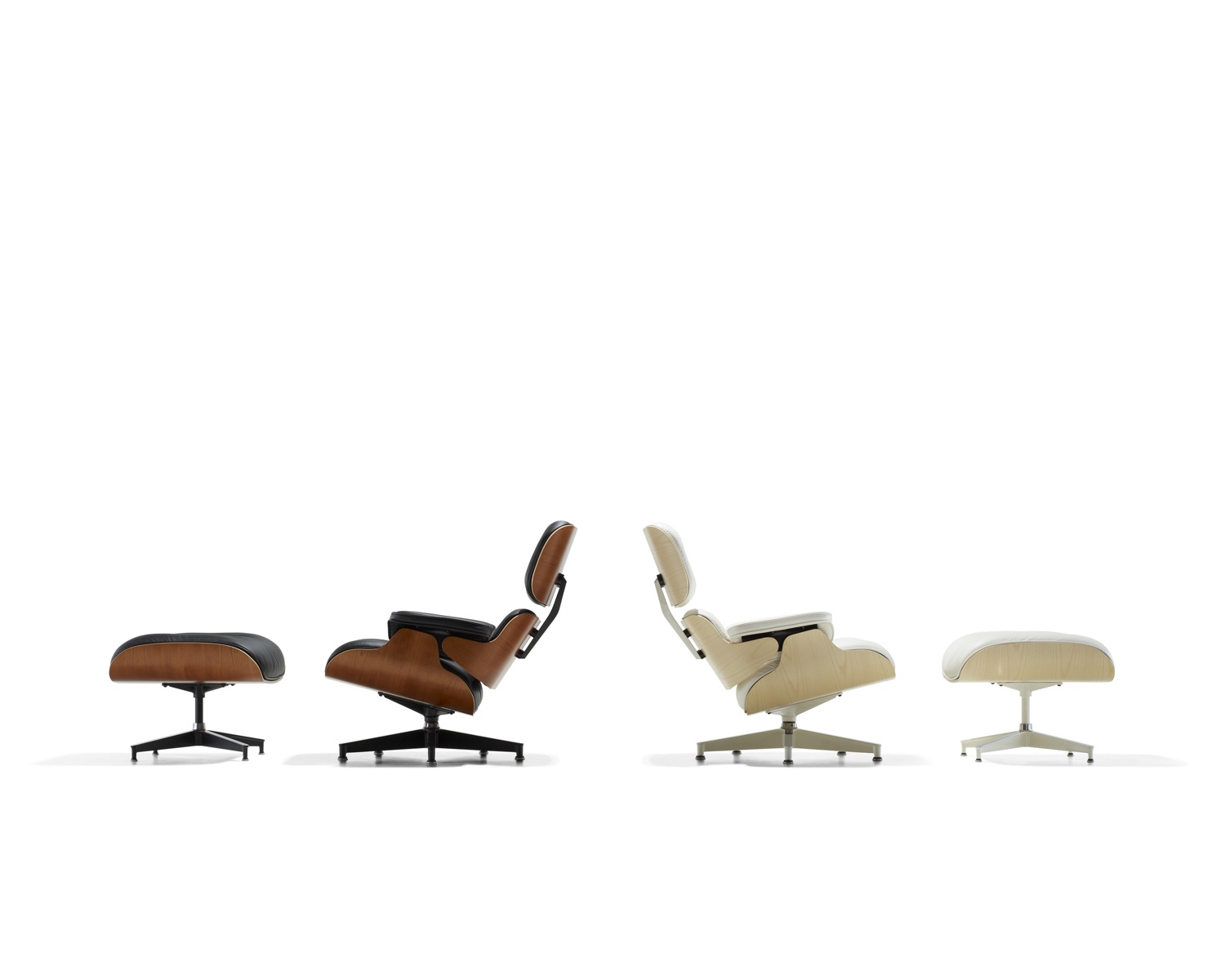 walnut and white eames lounge chair and ottoman the classic design stories of the eames lounge chair and ottoman