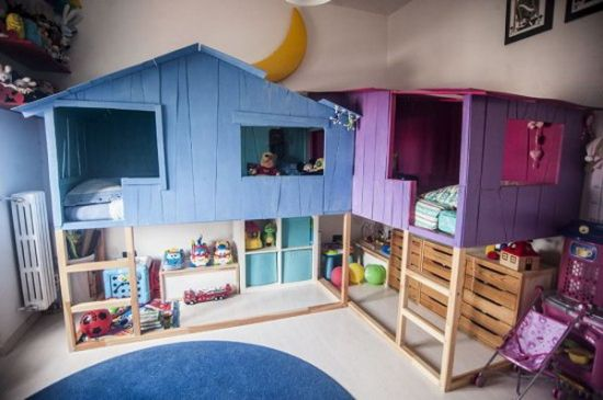 convertible IKEA beds to tree house and play area 33 genius ideas to transform furniture for kids