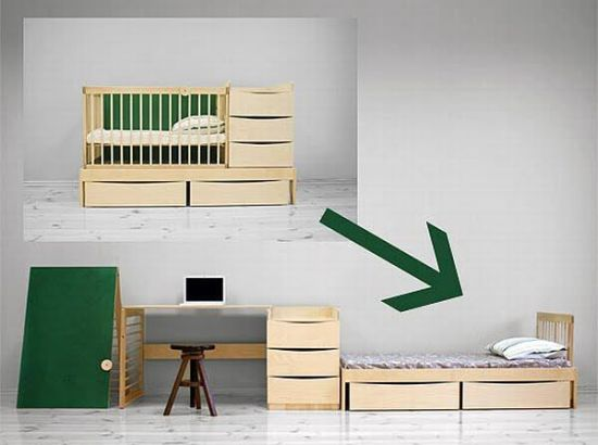 convertible baby crib to bed and study table 33 genius ideas to transform furniture for kids