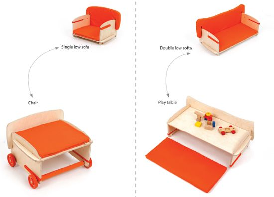 convertible sofa that can be converted to chair and play table 33 genius ideas to transform furniture for kids