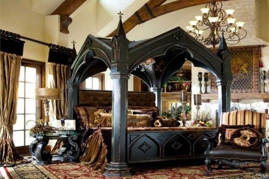 dark wood medieval canopy bed 35 wonderful medieval furniture inspirations for your lovely bedroom