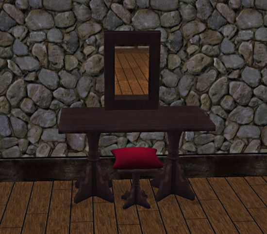 medieval vanity set and red cushioning stool 35 wonderful medieval furniture inspirations for your lovely bedroom