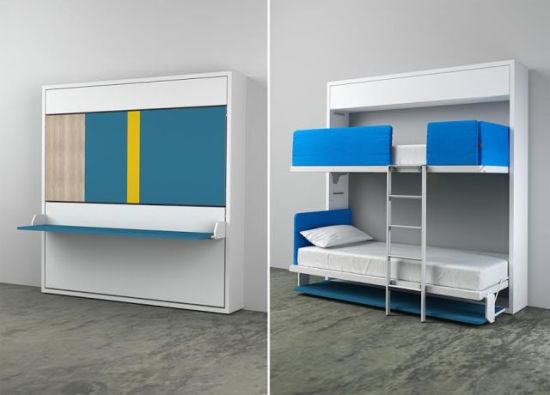 wall bunk bed design Kali Duo 33 genius ideas to transform furniture for kids